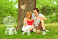 Close Up Portrait Of Attractive Young Couple Royalty Free Stock Images - 26790109