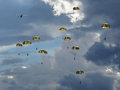Paratroopers And Dramatic Sky Stock Image - 26796361
