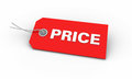 Red Price Tag Royalty Free Stock Image - 26797296
