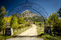 Crested Butte Cemetary Entrance Royalty Free Stock Photography - 26799107