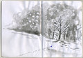 Painted Sketchbook - Snow Stock Photography - 26801252