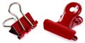 Red Binder Clips Royalty Free Stock Images - 26808959