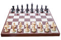 Chess Board Set Up To Begin A Game Stock Photography - 26809792
