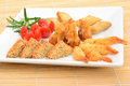 Oriental Selection And King Prawns Royalty Free Stock Photography - 26814077