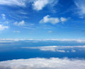 Blue Sky Sea Of Clouds From High Altitude Royalty Free Stock Photo - 26816555