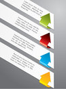 Advertising Label Set With Color Arrows Royalty Free Stock Image - 26819276
