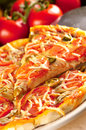Slice Of Vegetarian Pizza Royalty Free Stock Photography - 26819647