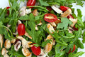 Fresh Green Salad With Rucola Tomatoes Royalty Free Stock Images - 26821129