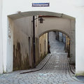 A Winding Cobbled Lane In The Old Town Stock Image - 26825031