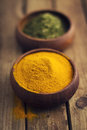 Spices In Wooden Bowls Royalty Free Stock Photo - 26831375
