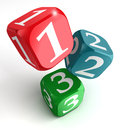 One Two Three Numbers On Dice Box Stock Photos - 26838693