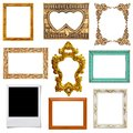 Gold And Wood Frame Stock Photography - 26843042