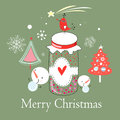 Christmas Card With A Bird On The Bank Royalty Free Stock Images - 26844859