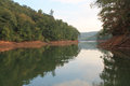 Fall Foliage Greenery Reflected On Tennessee Lake Stock Images - 26848744