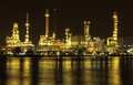 Oil Refinery Plant Night Scene In Thailand Royalty Free Stock Photos - 26855428