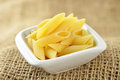 Several Penne Pasta In A Small Bowl Royalty Free Stock Photos - 26858618