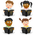 Kids Reading The Holy Bible Royalty Free Stock Image - 26860026