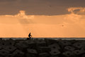 Cyclist At Sunset Stock Photo - 26867970