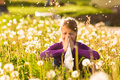 Girl In Meadow And Has Hay Fever Or Allergy Royalty Free Stock Photos - 26869208