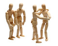Dancing Wooden Dolls On Party Royalty Free Stock Images - 26876709
