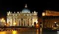 St. Peter S Square In Rome Royalty Free Stock Photo - 26877265