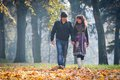 Lovers During Autumn Stock Photography - 26892502