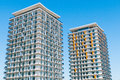 Modern Luxury Apartment Block Over Blue Sky Stock Images - 26910544