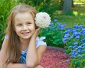 Cute Girl With Flower In Hair Stock Images - 26911404