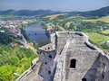 Aerial Summer View From Tower Of Strecno Castle Stock Images - 26916694