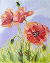 Poppies,  Oil Painting On Canvas Royalty Free Stock Images - 26948639