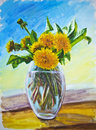Dandelions, Oil Painting Royalty Free Stock Images - 26949029