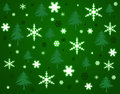 Snowflakes And Trees Background. Stock Photo - 26961950