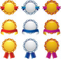 Gold Silver Bronze Awards With Banner Design Set Royalty Free Stock Image - 26966046