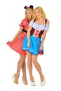 Two Beautiful Blonde Women In Carnival Costumes Stock Images - 26967104