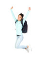 Young Girl Jumping Stock Images - 26967184