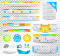 Collection Of Web Elements - Various Templates Royalty Free Stock Photography - 26968387