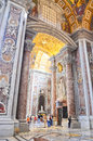 Interior Of The Saint Peter Cathedral In Vatican Stock Images - 26986794