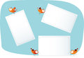 Birds Holding Paper Lists Royalty Free Stock Image - 26988936