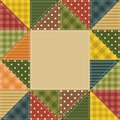 Frame With Patchwork Elements Royalty Free Stock Photos - 26990428