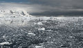 Icy Ocean Before The Storm In Antarctica Stock Photography - 26992902