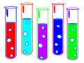 Colored Test Tubes Royalty Free Stock Photography - 2701797