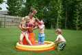 Boys And Girl Play With Dad In Stock Image - 2703671