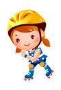 Girl On Rollerblades Royalty Free Stock Image - 27009116