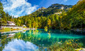 Hotel Blausee, Switzerland II Royalty Free Stock Images - 27009679