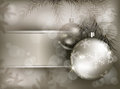 Christmas Baubles With Snowflake On Branch Stock Photos - 27013893