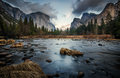 Dark And Cold Valley View Royalty Free Stock Photo - 27015115