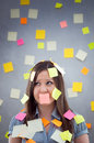 Secretary With Many Notes Royalty Free Stock Images - 27016139