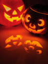 Glowing Pumpkin With A Candle Inside Stock Image - 27017341