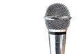 Closeup Of Vintage Microphone On White Background Stock Photos - 27018943
