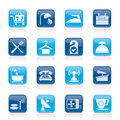Hotel And Motel Icons Stock Image - 27023031